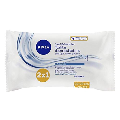NIVEA - Toallitas desmaquilladoras, piel normal y mixta - 40 toallitas