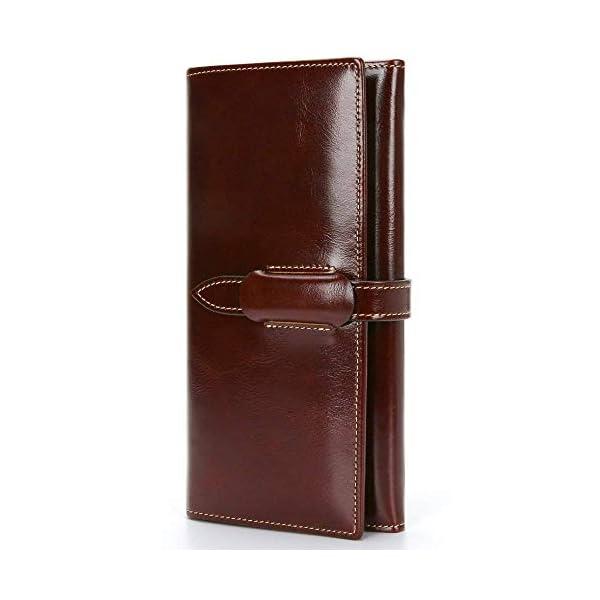 Portafoglio Uomo Borsellino di Vera Pelle Portafoglio Donna Grande Capacità Porta Carte di Credito Portamonete con RFID… 1 spesavip