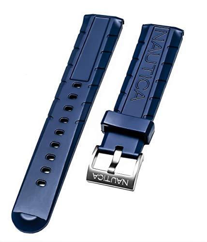 Nautica Herren nad21005g NSR 103Tide Temp Kompass 22mm Original Blau Ersatz Gummi Watch Band/Gurt