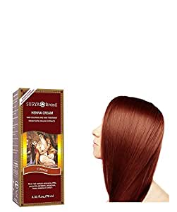 Surya Brasil - Henna Brasil Cream Hair Coloring with Organic Extracts Copper - 2.31 oz
