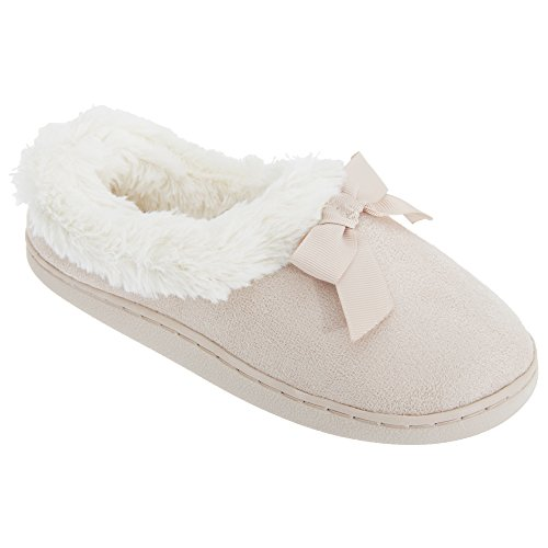 Pantofole interno in pelliccia sintetica - Donna Rosa