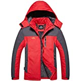 HUIHUI 2019 Winterjacke Herren schwarz Mantel lang Jacket for Man Polar (rot,XXL)