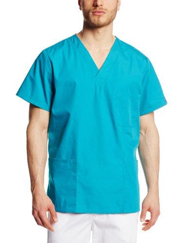 Cherokee Uniforms Unisex Schlupfkasack, Teal Blue (Dunkeltürkis), Gr. 5XL (Da:66/68 He:74/76) - Medizinische Cherokee Uniformen