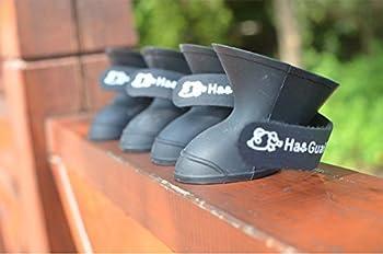 Hosaire Chaussure Chien Portable Dog Bottes Couleurs de Bonbons Des Protection Bottes pour Chien 4 PCS/Lot-S