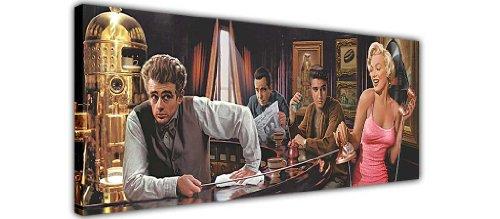 MARILYN MONROE ELVIS PRESLEY James Dean in Bar Pop Art Canvas Prints Art Wand Bilder Bild Raum Dekoration Zuhause Hollywood Legends Nostalgie, canvas holz, 12- 40