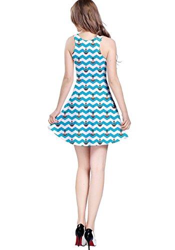 CowCow Damen Kleid Blau Navy Blau - Himmelblau