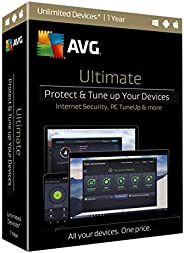 AVG Ultimate Latest (AntiVirus + Internet Security + Tune Up + VPN + More Tools)   For 10 Devices   For 1 Year