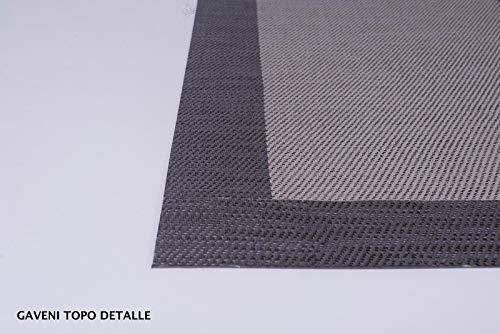 Clara Vidal Alfombra de vinilo Daveni - 140x200 cm, Topo