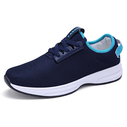 Unisex Air Mesh Breathable Running Shoes 9877 dark blue
