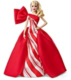 Barbie Signature Poupée de Collection Tenue de Noël, Robe Blanche et Rouge, Édition 2019, Jouet Collector, FXF01