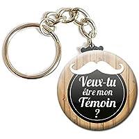 Porte Clés Chaînette 3,8 centimètres Veux tu Être mon Témoin Idée Cadeau Accessoire Accessoire Mariage Evjf