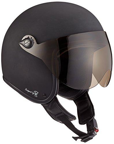 Bores bogo 2jet casco in pelle con visiera designed by gen sler, ce en1077sport prova senza ece, nero opaco, taglia m 53–54cm