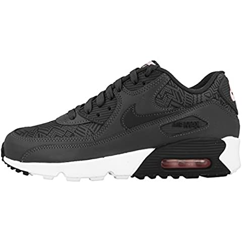 Nike Schuhe Air Max 90 SE Mesh (GS) Damen dark grey-anthracite-white-prism pink (880305-001), 38,