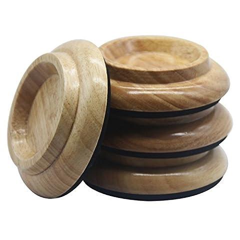 BestSounds Pieds en bois massif/palissandre pour roulettes de piano Lot de 4 Solid Wood Natural