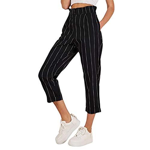 Beautyjourney pantaloni donna eleganti slim fit skinny chino pantalone donna elegante slim fit pantaloni ragazza tumblr pantaloni donna vita alta da lavoro - donna pantaloni sportivi (s, nero)