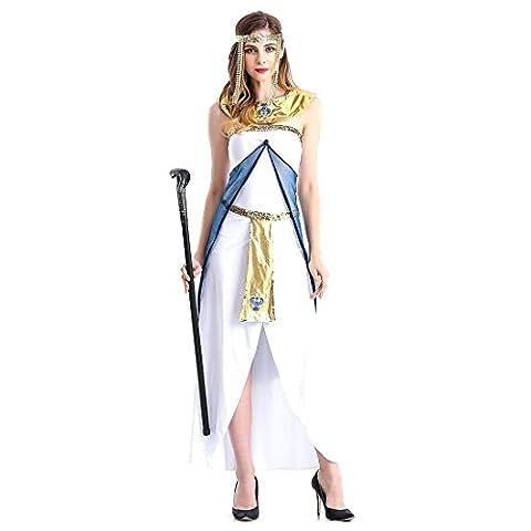Slocyclub Damen Grace Griechische Göttin Kostüm Aphrodite Langes Kleid (Griechische Göttin Kopfschmuck Kostüm)