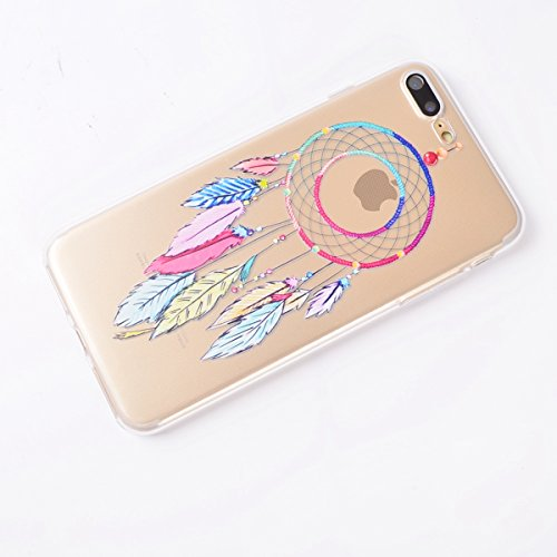 Custodia iPhone 7 Plus, iPhone 7 Plus Cover Silicone, SainCat Custodia in Morbida TPU Protettiva Cover per iPhone 7 Plus,Creative Design Transparent Silicone Case Ultra Slim Sottile Morbida Transparen Campanula