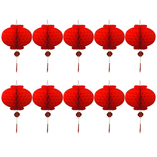 Chinesische Lampions,Chinesische Laternen,WINTHAI 5 mt 50-LED Batteriebetriebene Laterne Lichterketten für Chinesisches Neujahr Frühlingsfest Home Party Feier Dekoration Requisiten