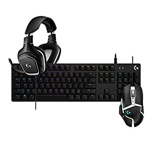 Logitech G502 SE Hero Hochleistungs-RGB-Gaming-Maus + Logitech G332 SE, Stereo-Gaming-Headset für PC, PS4, Xbox One + G512 SE Lightsync Mechanische switches RGB Gaming-Tastatur