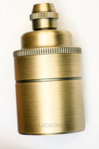 ledsone Deckenleuchte, E27Industrial Retro Vintage Edison Lampenfassungen Hängeleuchte Socket für Heimwerker [Energieeffizienzklasse A + + +] Art Deco messing
