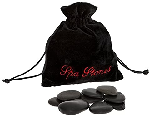 Out of the Blue Spa Hot Rocks Relaxing Massage Stones, Multi-Colour, Pack of 9