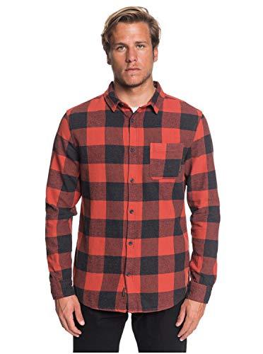 Quiksilver - Camisa Manga Larga - Hombre - M - Rojo
