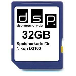 DSP Memory Z-4051557365865 32GB Speicherkarte für Nikon D3100