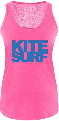 EZYshirt® Kitesurf Damen Tanktop Fuchsia/Blau