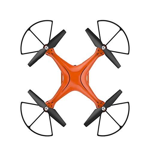 wangkm telecamera drone fpv hd, velivoli ad asse fisso quad-axis wifi anti-caduta telecomando aeromobile giroscopio a 6 assi altitudine aeromobile hover adatto a principianti e bambini,orange