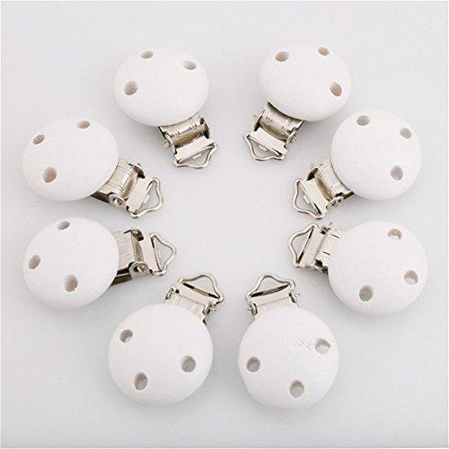 Preisvergleich Produktbild Fhouses 5 Stück Schnuller clips holz (004#)