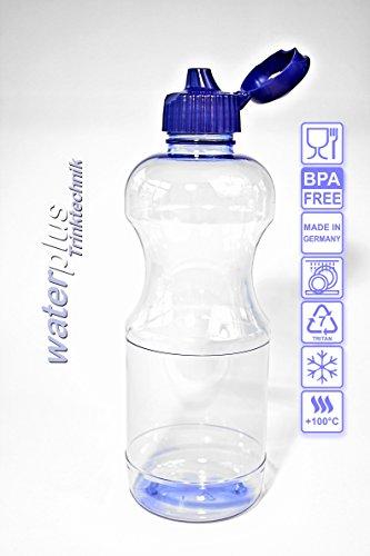 2-x-TRITAN-Trinkflasche-05-Liter-rund-2-Dichtdeckel-2-Trinkdeckel-Wasserflasche-Sportflasche-Flasche-Getrnkeflasche-ohne-Weichmacher-ohne-Schadstoffe-BPA-frei-geruchsfrei-und-geschmacksneutral-aus-Deu