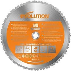 Evolution Power Tools - Lame Polyvalente en Carbure de Tungstène Rage, 355 mm