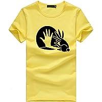 Luckycat Mujeres Camisetas de Verano Talla Grande Creativo Impresas T Shirt Elegante Manga Corta Túnica Casual Suelto Blusas Básica Camisas Tops Mujer Tops Ropa Chica Joven