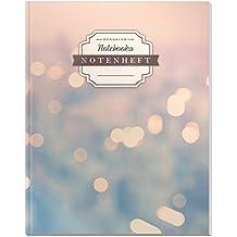 DÉKOKIND Notenheft | DIN A4, 64 Seiten, 12 Notensysteme pro Seite, Inhaltsverzeichnis, Vintage Softcover | Dickes Notenbuch | Motiv: Citylights