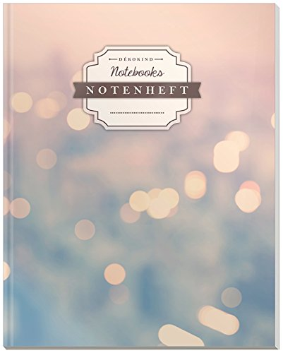 DÉKOKIND Notenheft   DIN A4, 64 Seiten, 12 Notensysteme pro Seite, Inhaltsverzeichnis, Vintage Softcover   Dickes Notenbuch   Motiv: Citylights
