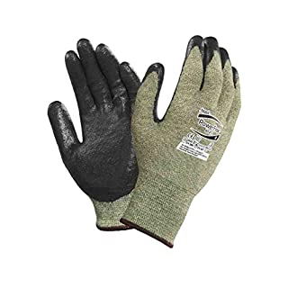 Ansell ActivArmr 80-813 Flame & Arc Flash Resistant Neoprene Coated Work Gloves, Size - 6