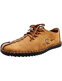 Yudesun Chaussures Mocassins Homme - Noir Affaires Occasionnel Cuir  Chaussures Derby Lacets Mariage Oxford Dressing Business 55d4c1043e2f