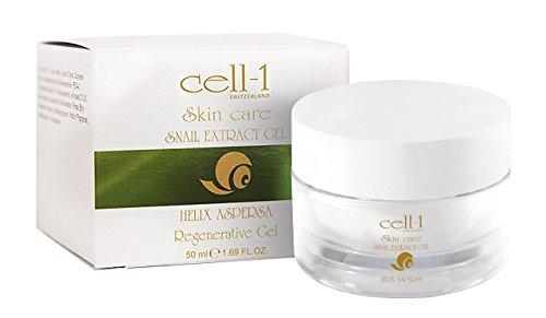 cell-1 Anti Falten Schnecken Gel für Gesicht I Creme gegen Pickel Narben und Akne I Schneckencreme Gesichtscreme mit Schneckenextrakt gegen unreine Haut und Altersflecken I Hautgel 50ml