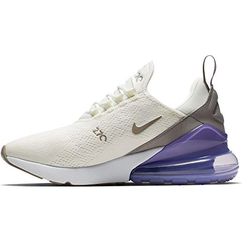 Nike Damen W Air Max 270 Leichtathletikschuhe, Mehrfarbig (Sail/Pumice/Space Purple/White 000), 38 EU