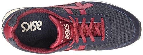Asics Curreo Unisex-Erwachsene Sneaker Blau (navy/burgundy 5026)