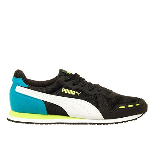 Puma - Cabana Racer Mesh JR - 35637223 - Color  White-Blue-Black - Size  5 5