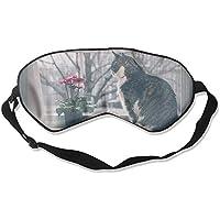 Eye Mask Eyeshade Cat Sit Window Sleeping Mask Blindfold Eyepatch Adjustable Head Strap preisvergleich bei billige-tabletten.eu