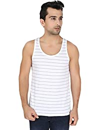United Colors of Benetton Men's Cotton Vest (LM70I_Large_White and Grey)-902