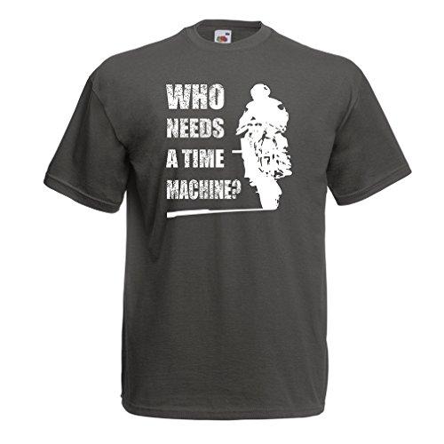 lepni.me T-Shirt da Uomo Abbigliamento Moto (Small Grafit