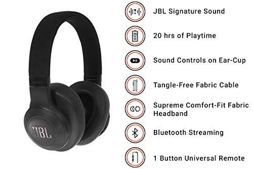 Recensione JBL JBLE55BTBLK Cuffie Circumaurali con Bluetooth ... a566c6c3e7ec