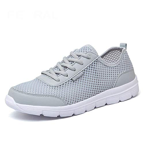 HOTSTREE 2019 New Unisex Shoes Comfortable Breathable Light Shoes Men & Woman Sneakers Plus Big Size 35~48 Gray 14 Pliner High Heels