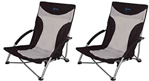 2 X KAMPA SANDY HIGH BACK LOW CHAIR LOUNGER RELAXER CAMPING BEACH GARDEN