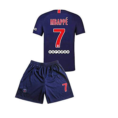 Fan Kitbag PSG Home # 7 MBAPPE Saison 2018-2019 Männer Fußball Trikot Farbe Blau 26(10-11jahre)