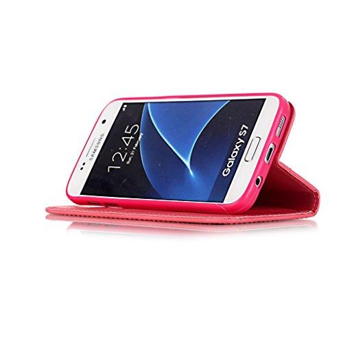 Uming® spéciales Séries Motif Colorful Imprimer cas PU Holster Case ( Gold - pour IPhone6SPlus IPhone 6SPlus 6Plus IPhone6Plus ) Artificial-cuir flip avec support Stander titulaire de la carte de créd Red