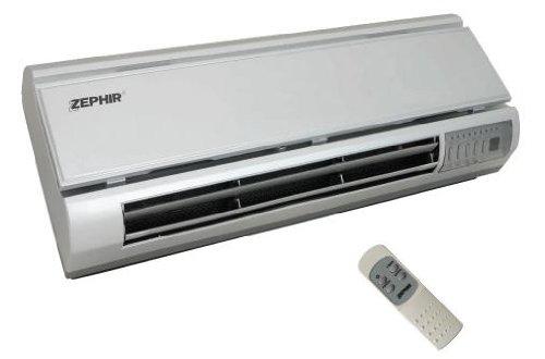 Zephir ZMW2010S Plata 2000W Ventilador - Calefactor (Ventilador, Cerámico, Pared, Plata, Botones, 2000 W)